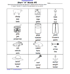 Phonics Worksheets: Multiple Choice Worksheets to Print -  EnchantedLearning.com [ 1649 x 1275 Pixel ]