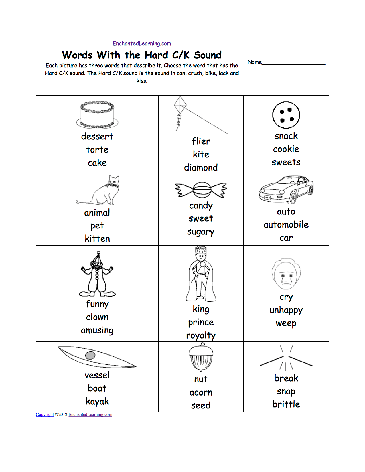 Phonics Worksheets Multiple Choice Worksheets To Print