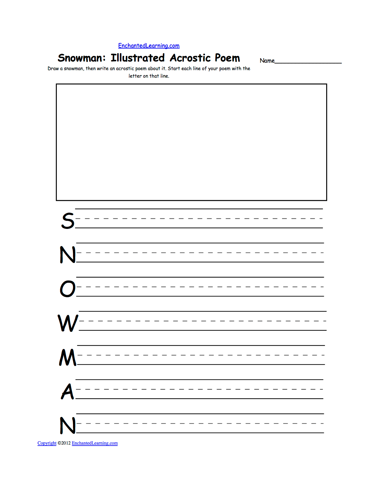 Drawing Theme Page At Enchantedlearning