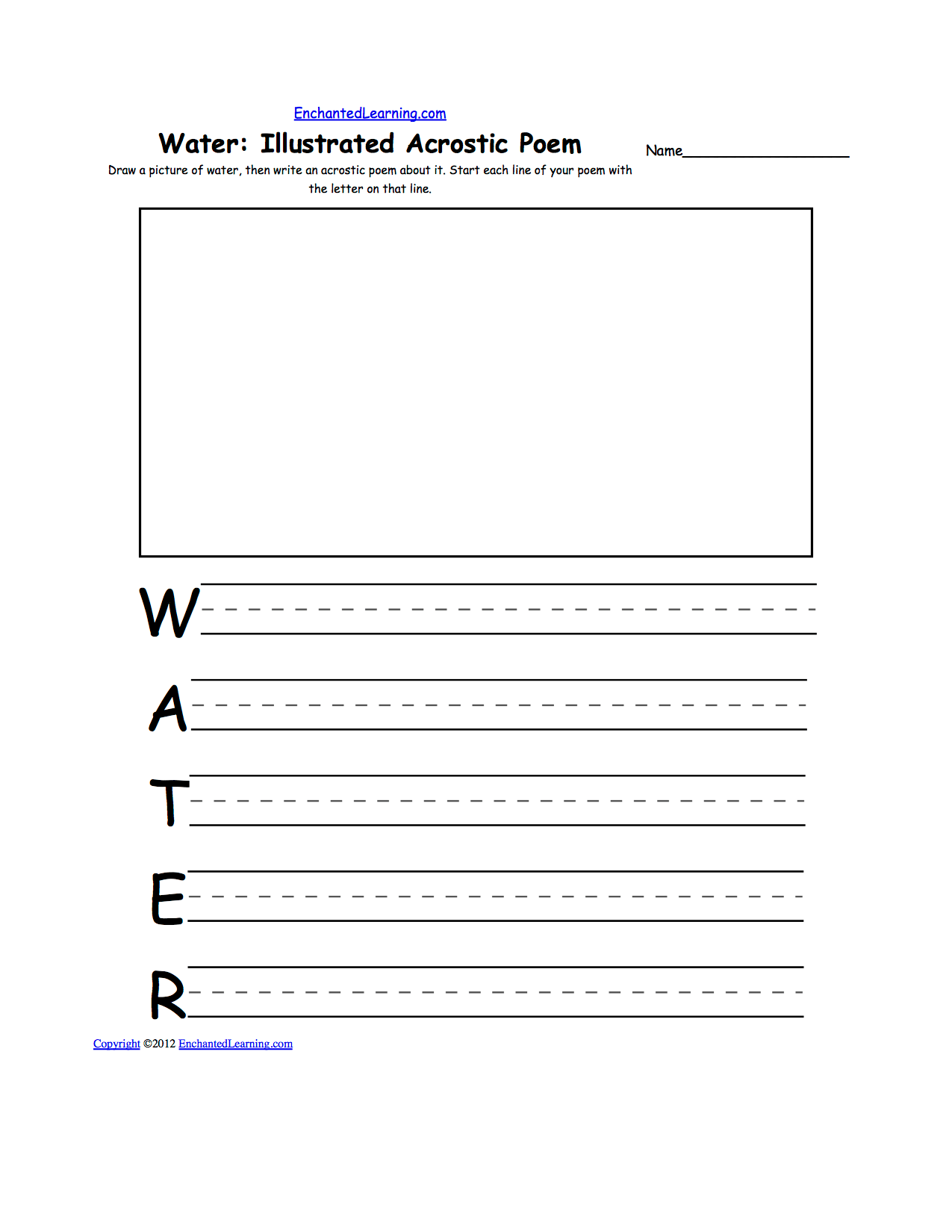 hight resolution of draw a picture of water then write an acrostic poem about it start each line of your poem with the letter on that line