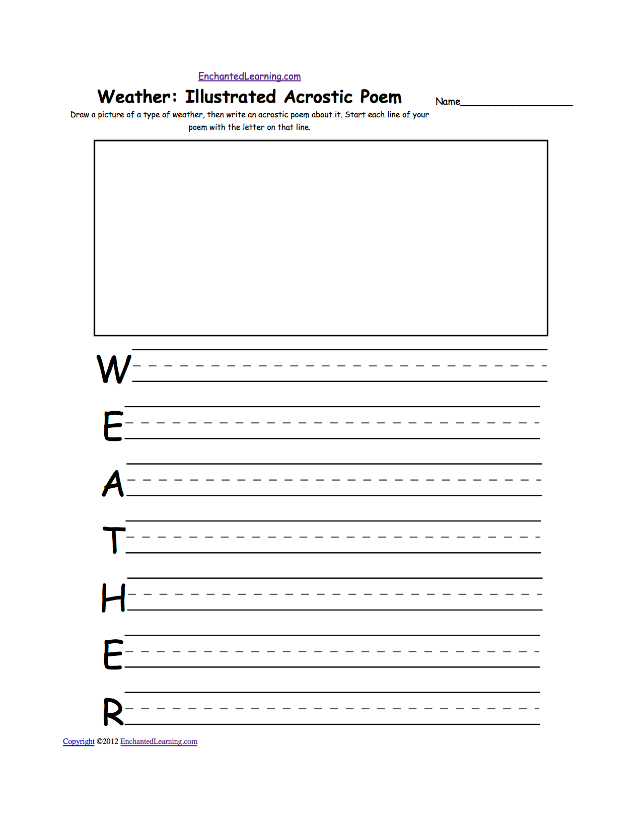 hight resolution of Weather-Related Activities at EnchantedLearning.com