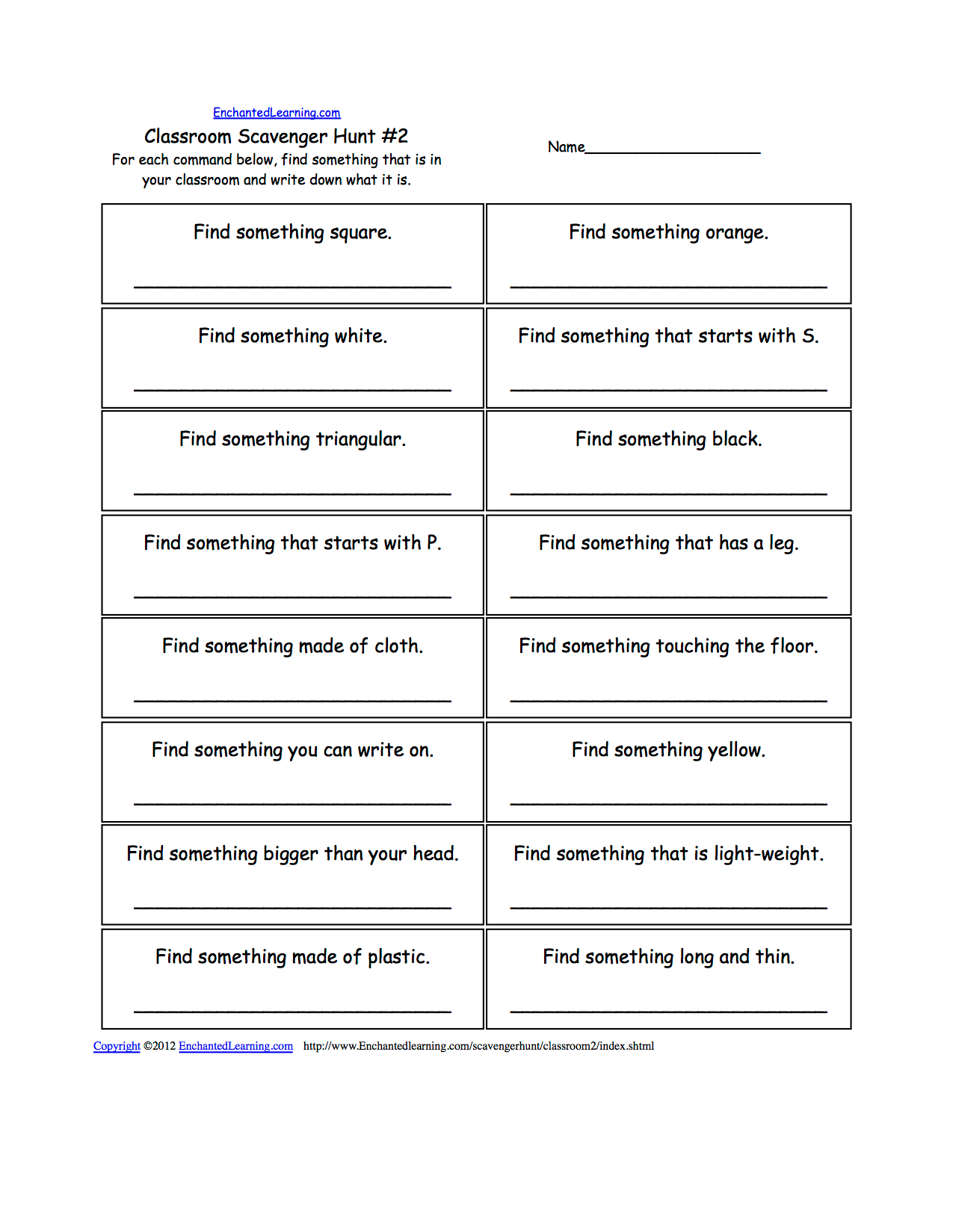 Writing Worksheets School Theme Page At Enchantedlearning