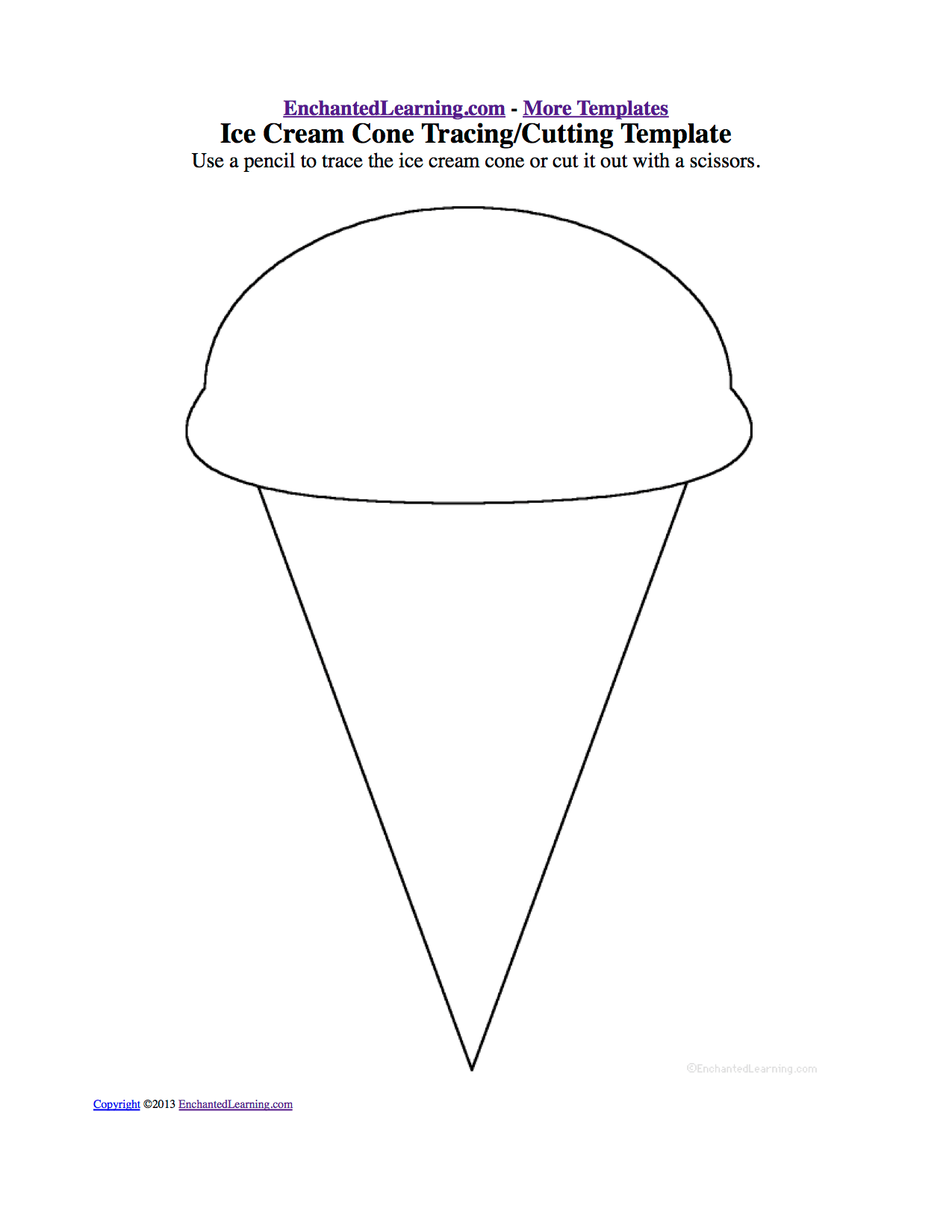 Ice Cream Theme Page At Enchantedlearning