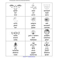 Halloween EAL Worksheet multiple choice