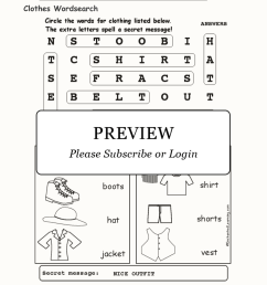 Clothes Wordsearch - Enchanted Learning [ 2112 x 1632 Pixel ]