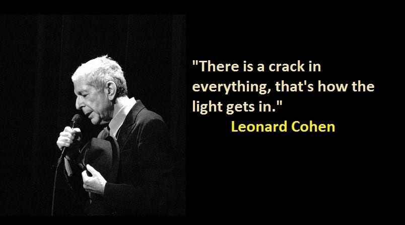Words of Wisdom - Leonard Cohen Quotes - Enchanted Little ...
