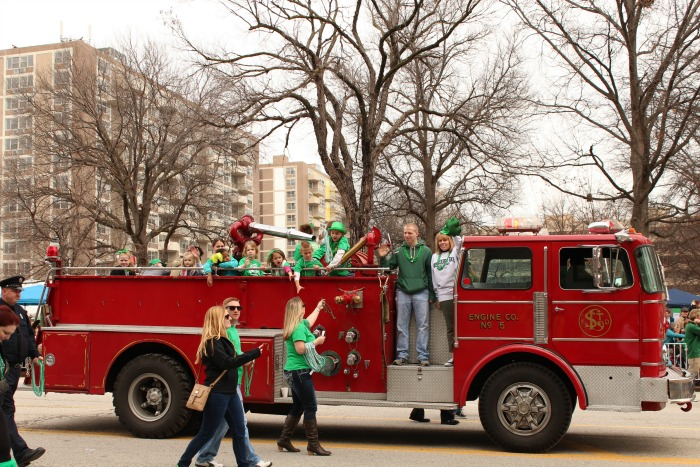 St Patrick's Day Firefighters