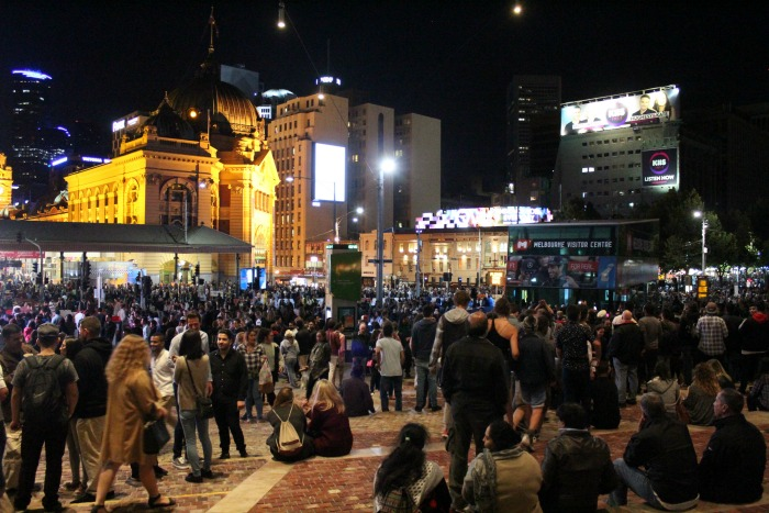 White Night Crowds At Fed Square