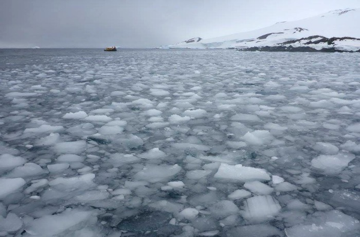 The Natural Ice Blocks Over Summer