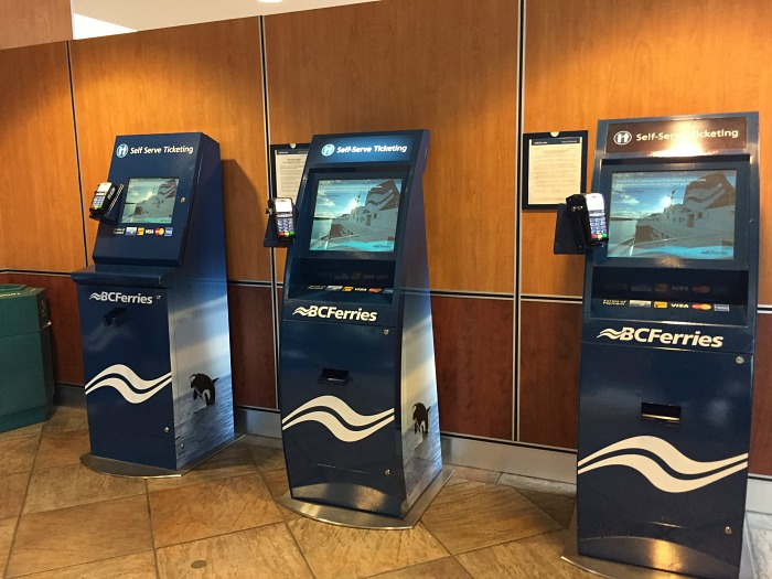BC Ferries Ticket Kiosk Vancouver To Victoria