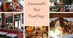 Savannah's Best Food Stops, Collins Quarter, Six Pence Pub, Soho South Cafe