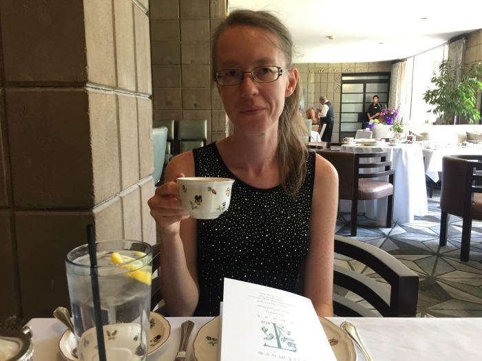 Vera Enjoying The Afternoon Grand Tea At Biltmore Arizona
