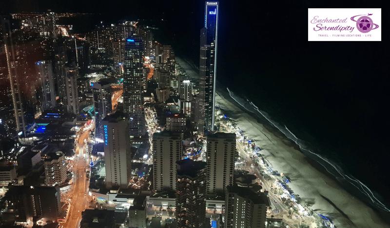 Q1 Skypoint Observation Deck Gold Coast Australia Night View