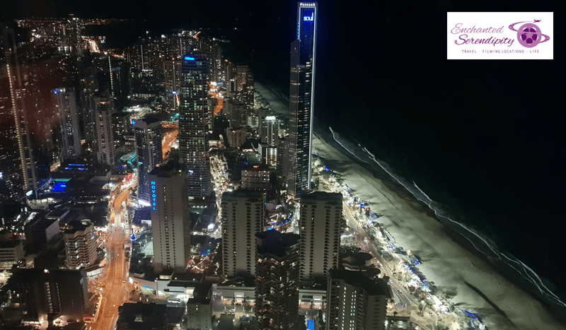 Q1 Skypoint Observation Deck Gold Coast Australia Night View
