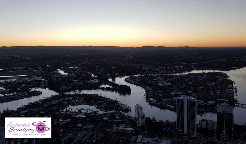Q1 Skypoint Observation Deck Gold Coast Australia View Sunset