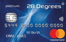 28 Degrees Mastercard Travel Card