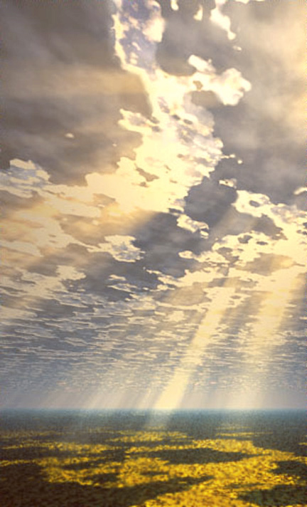 God's light shining down on us