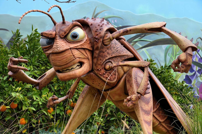 Hopper The Grasshopper Statue At California Adventure In