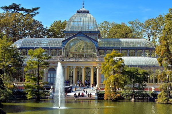 Crystal Palace Buen Retiro Park In Madrid Spain