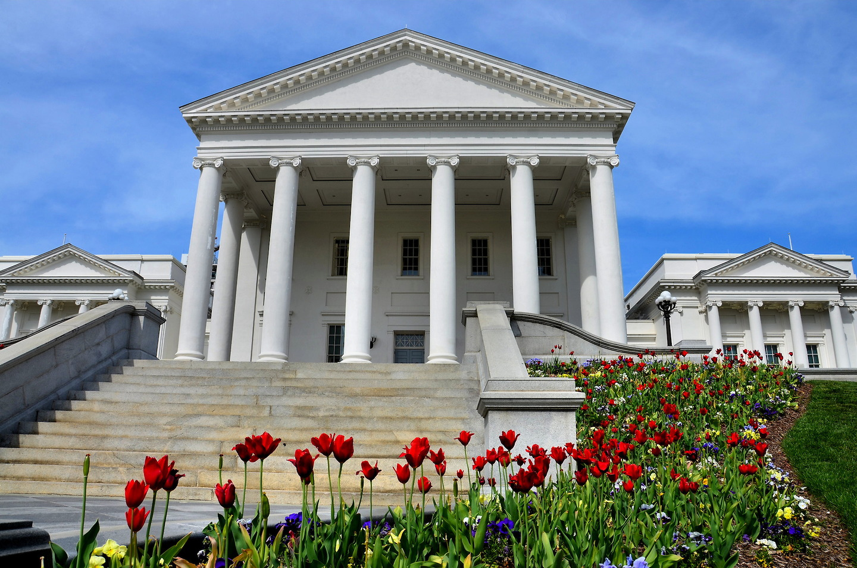 Virginia State Capitol Building In Richmond Virginia