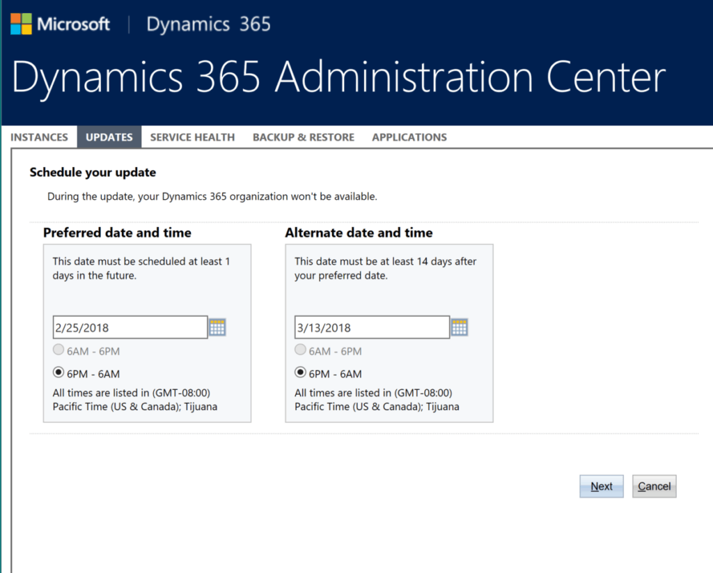 enCloud9   Microsoft Dynamics 365 CRM Consultants Quick Tip: It's time to schedule your Dynamics 365 July 2017 update Dynamics 365 CRM QuickTips Dynamics 365 Fundamentals Microsoft Dynamics 365