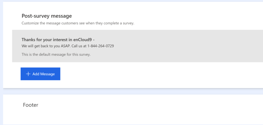 enCloud9 | Microsoft Dynamics 365 CRM Consultants How to create a Contact Us form using Customer Voice Customer Voice Microsoft Dynamics 365 Microsoft Forms Pro