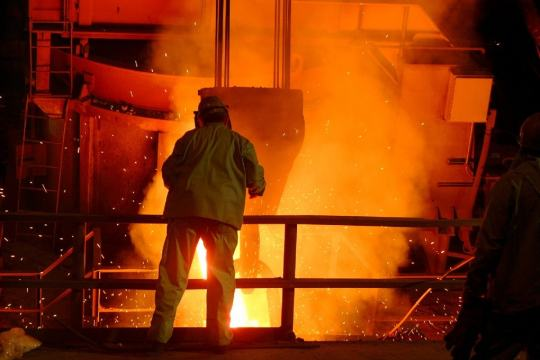 a picture of a plant where steel plant a steelworker strike could have taken place if not for recent headway in contract negotiations.