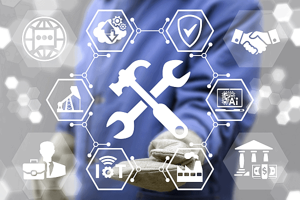 an image of iot for manufacturers and the tools predictive maintenance delivers to manufacturers