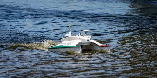 an image of a searobotics product on the water