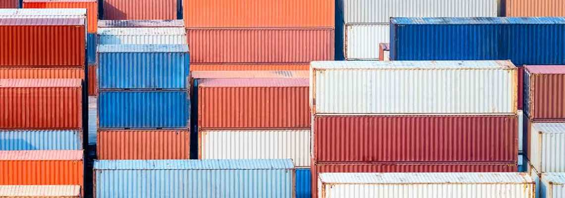 an image of containers as part of ERP Supply Chain Management solutions
