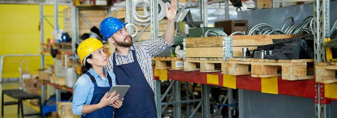 an image of warehouse workers conducting a full physical inventory, which can be avoided by following our cycle count continual process improvement workshop