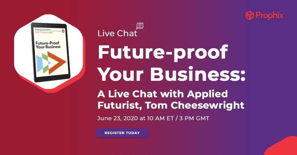 an image of the future-proof your business webinar hosted by Prophix