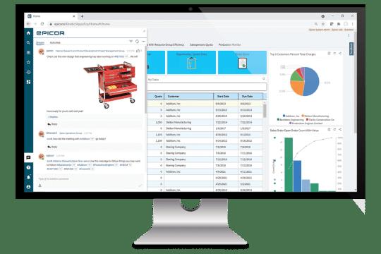 epicor collaborate enterprise collaboration tools epicor kinetic intranet