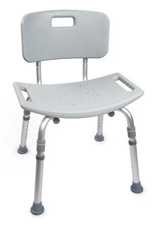 Height Adjust Bath Chair with Backrest
