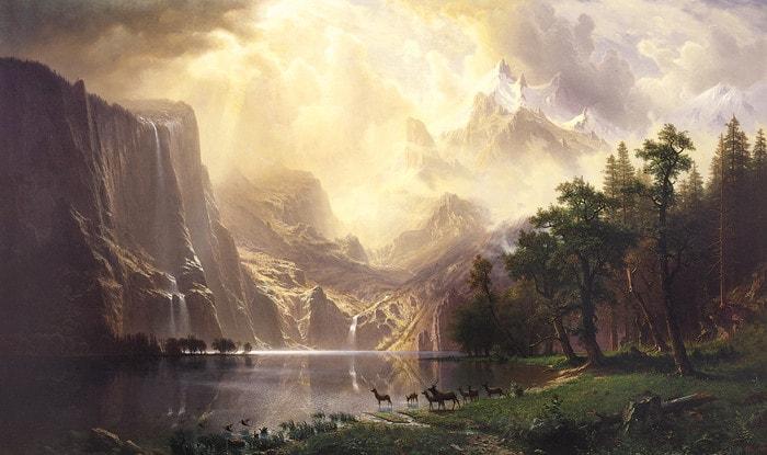 Among the Sierra Nevada Mountains by Albert Bierstadt