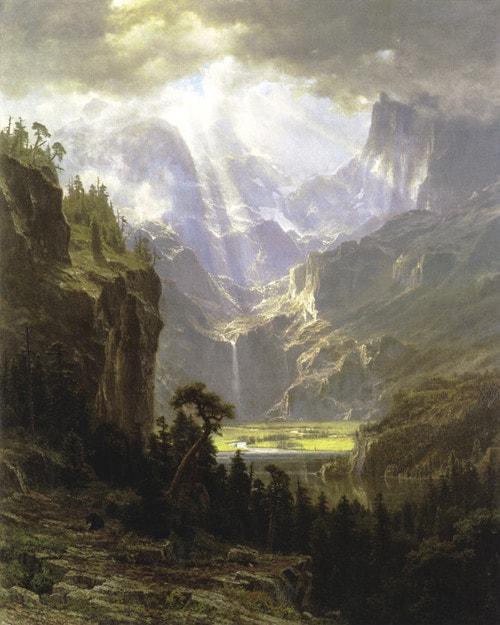 Lander's Peak by Albert Bierstadt