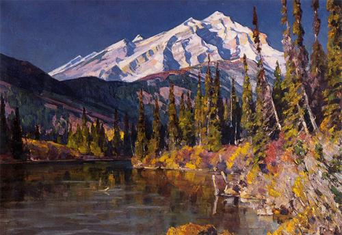 Mountain Lake by Carl Rungius