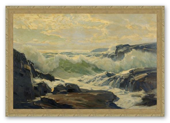 Coast of Maine by Frederick Judd Waugh Framed Canvas Print