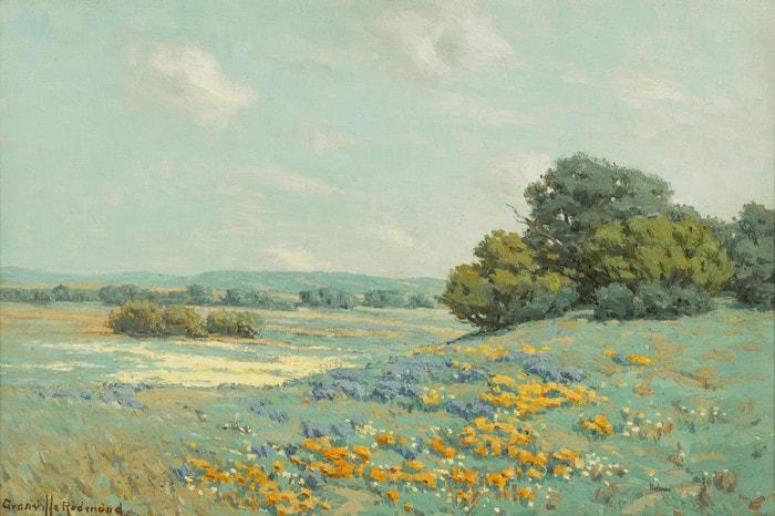 California Poppy Field by Granville Redmond