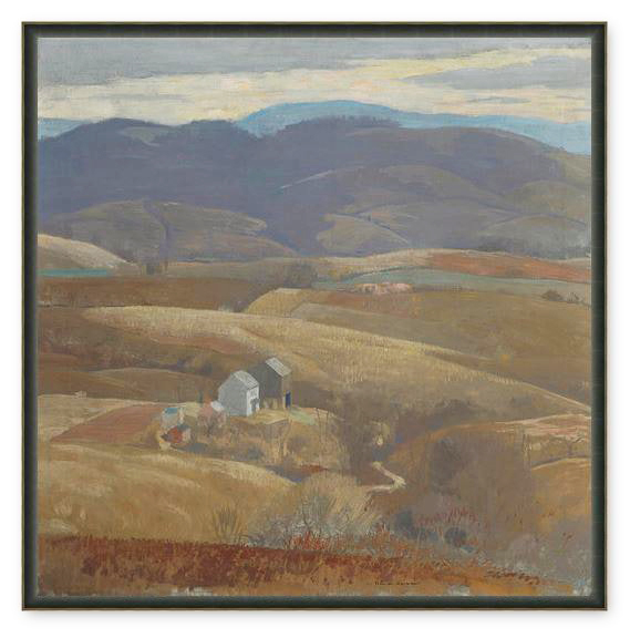 Lone Farm by Daniel Garber Framed Canvas Print