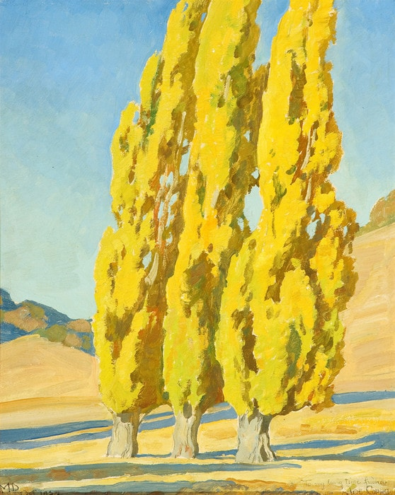 Autumn Poplars by Maynard Dixon