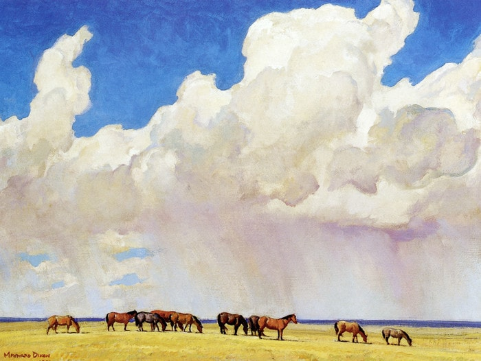 Prairie Shower by Maynard Dixon