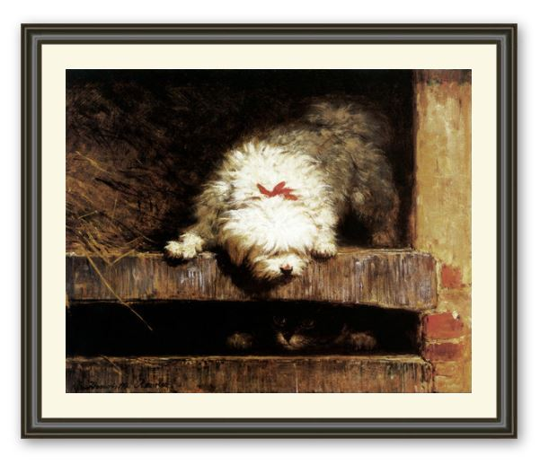 Peek-a-Boo, Terrier by Henriette Ronner Knip