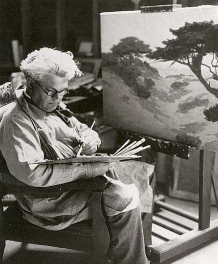 Granville Redmond in the Studio