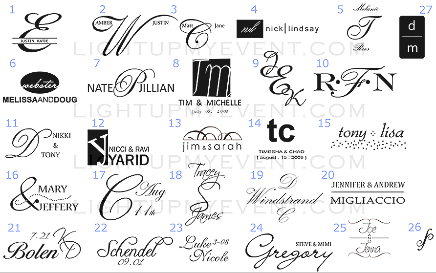 Custom Name Monograms, Images, & Award Winning Effects
