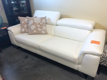 manwah sofa factory teddy encore home furnishings search results htl white leather with adjustable headrests