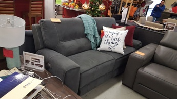 manwah sofa factory havertys bart sleeper encore home furnishings search results charcoal microsuede power reclining with adjustable headrests
