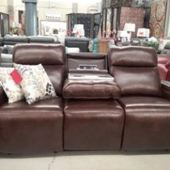 Manwah Sofa Factory How Much Fabric Do I Need For A Slipcover Encore Home Furnishings Search Results Dark Brown Leather Power Reclining With Cupholders Arm Storage Adjustable Headrests