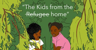 """The Kids from the (Refugee) home""– a talk about a collaborative children's book project"