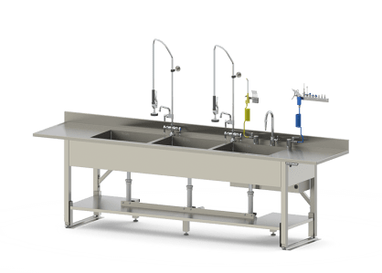 Stainless Clean Up Stations